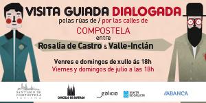 Visitas Rosalía e Valle Inclán