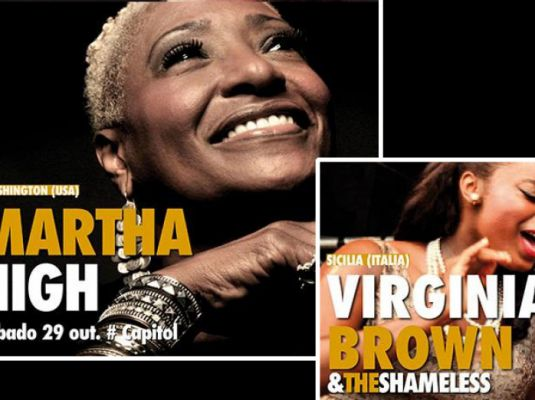 Outono Códax Festival 2016. Concert by Virginia Brown & The Shameless +  Martha High