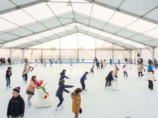 Pista de patinaje sobre hielo 2018