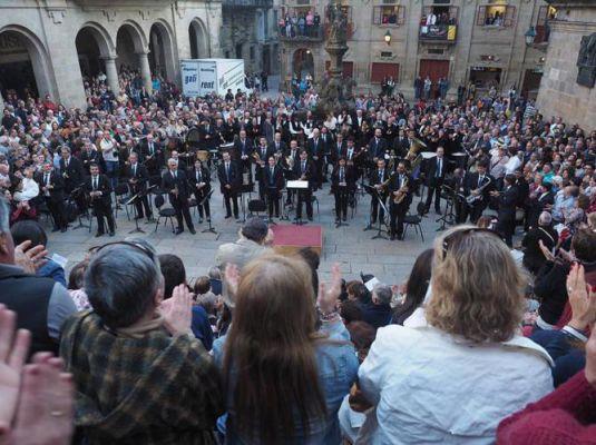 'Banda Municipal de Música de Santiago. Día de Padrón en Santiago.  Apóstolo 2019'