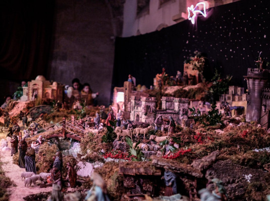 Traditional nativity scene of San Fiz