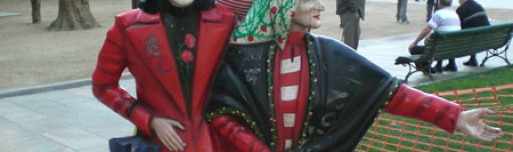 Visita a Santiago del muñeco viajero Stabri