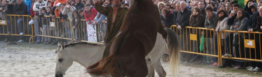 Exhibición ecuestre en la Feria del Caballo de Lalín