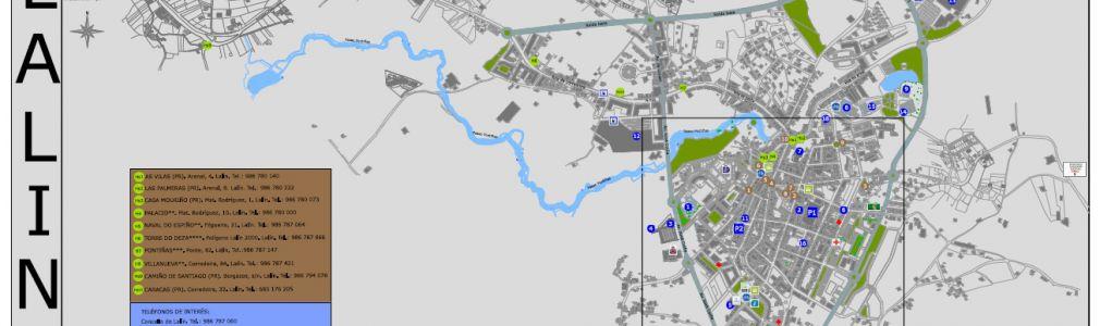 Lalín: Mapa completo