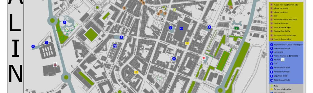 Lalín: Mapa callejero