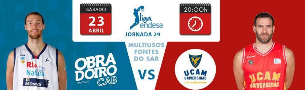 Baloncesto: 'Liga Endesa'. Jornada 29: Obradoiro CAB - UCAM Murcia
