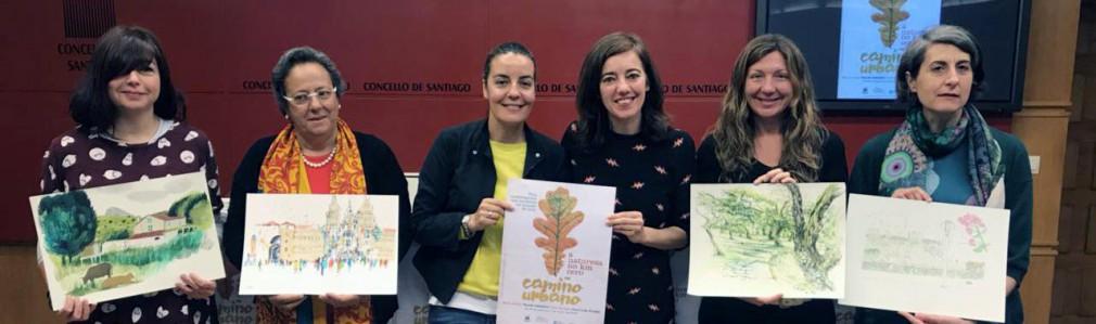 """Cuatro ilustradoras dibujarán los parques de Compostela en """"O Camiño Urbano"""""""
