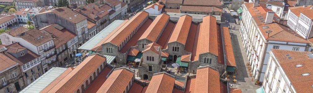 Praza de Abastos: aerial view