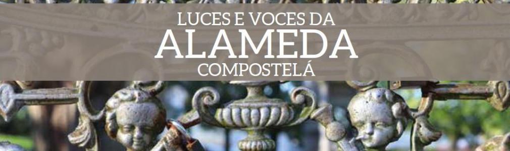 Luces e voces da Alameda Compostelá: Itinerary with artistic lighting