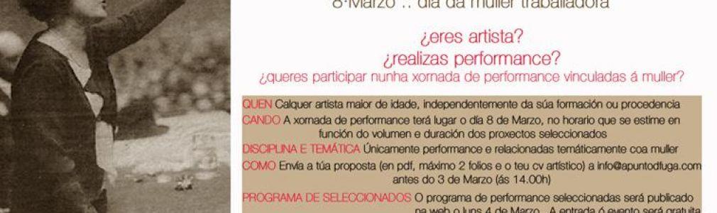 Convocatoria de performance '8 Marzo, día de la mujer trabajadora'