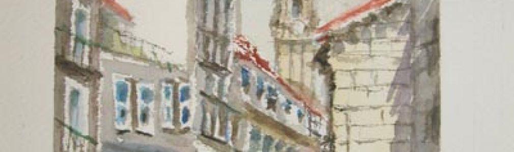 'Compostela en las acuarelas de Waldoc'