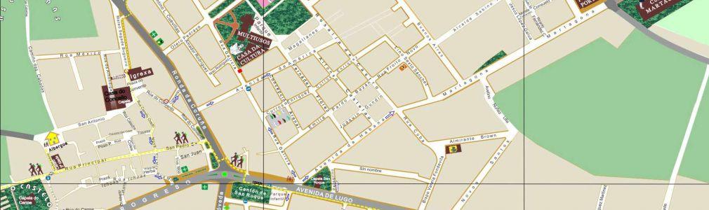 Melide: Plano con callejero
