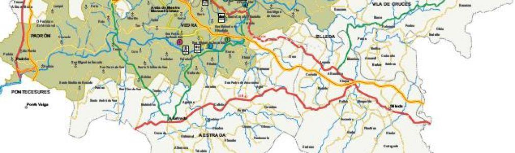 Vedra: Mapa turístico de la Ruta del Vino da Ribeira do Ulla