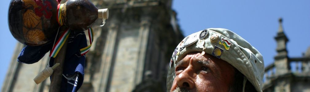 Peregrino en la Catedral