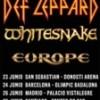 Concierto de Def Leppard + Whitesnake + Europe
