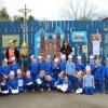 350 niños norirlandeses viven el Camino de Santiago en su escuela