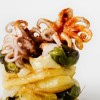 Little octopuses with crystallised potatoes and Padrón peppers