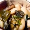 Fabas de Lourenzá con setas y algas
