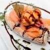 Remembering the sea (toastie of homemade octopus pâté on slice of smoked salmon with mussel in pickle)