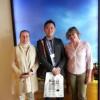 El presidente de la Asociación Coreana de Amigos del Camino en Madrid visita Santiago
